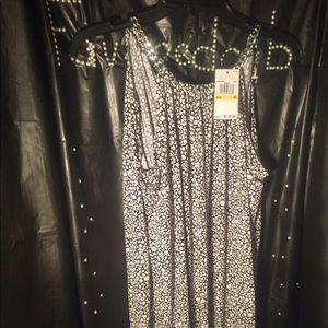 comforter- black/white signature silver chain